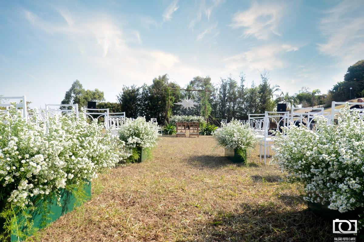Foto de um local que será realizada a cerimônia de casamento.