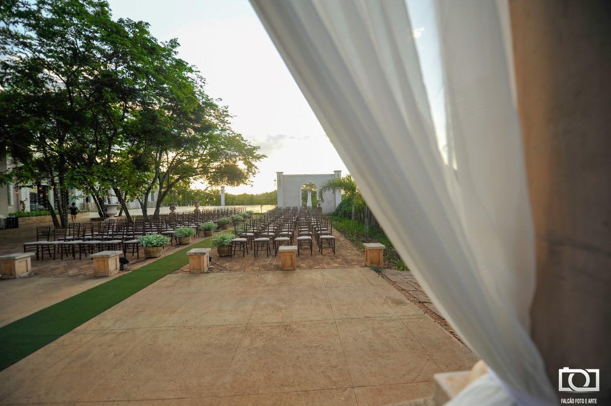 Foto do local que será feita a cerimônia de casamento.