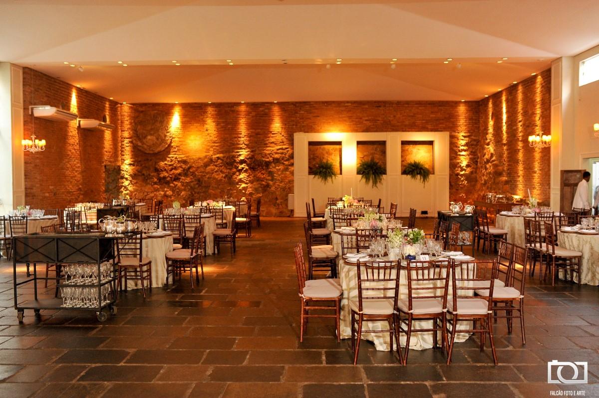 Foto de um local que será realizada uma festa de casamento.
